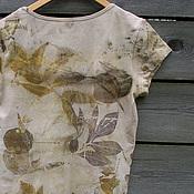 """Одежда ручной работы. Ярмарка Мастеров - ручная работа Футболка """"Весь свет"""" , эко принт. Handmade."""