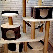 Когтеточки ручной работы. Ярмарка Мастеров - ручная работа Комплекс для крупных кошек номер 022. Handmade.