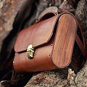Сумки и аксессуары ручной работы. Ярмарка Мастеров - ручная работа Женская коричневая кожаная сумка Big Brown Bag деревянная сумка. Handmade.