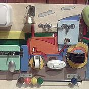 Бизиборды ручной работы. Ярмарка Мастеров - ручная работа Бизиборд-мини Трактор. Handmade.