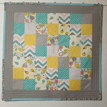 Товары для малышей ручной работы. Ярмарка Мастеров - ручная работа Аксессуары: лоскутное одеяло. Handmade.