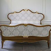 Для дома и интерьера handmade. Livemaster - original item Bed in solid walnut with gold leaf. Handmade.