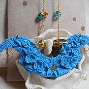 Украшения ручной работы. Ярмарка Мастеров - ручная работа Голубое кружево. Handmade.