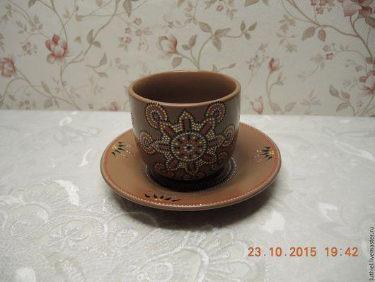 Кружки и чашки ручной работы. Ярмарка Мастеров - ручная работа. Купить Чайная пара. Handmade. Керамическая посуда, чайная пара