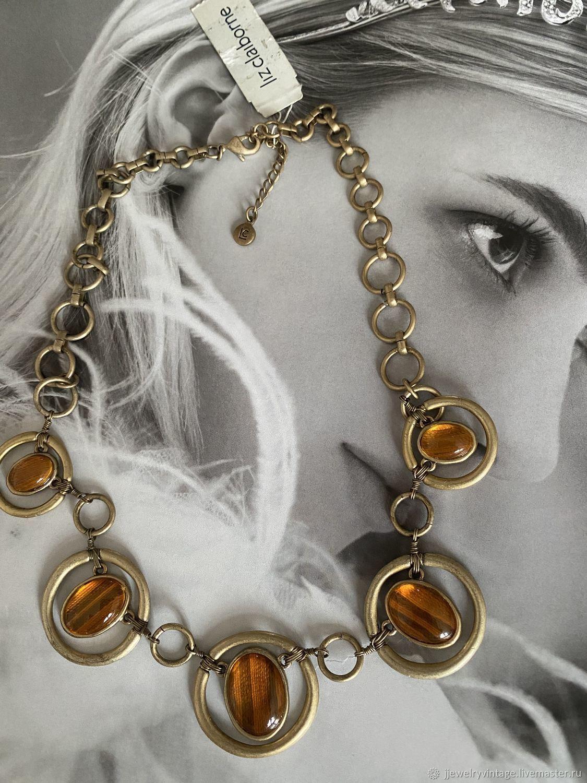 Винтаж: Liz Claiborne винтаж колье со стеклом, Колье винтажные, Москва,  Фото №1
