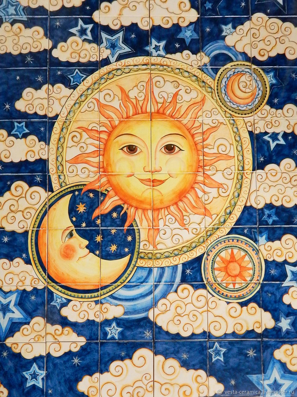 Ceramic panel 'the Sun', Panels, Moscow,  Фото №1
