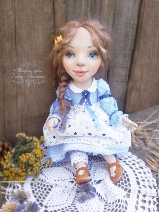 Коллекционные куклы ручной работы. Ярмарка Мастеров - ручная работа. Купить Звездочка. Текстильная кукла. Авторская интерьерная кукла. Handmade.