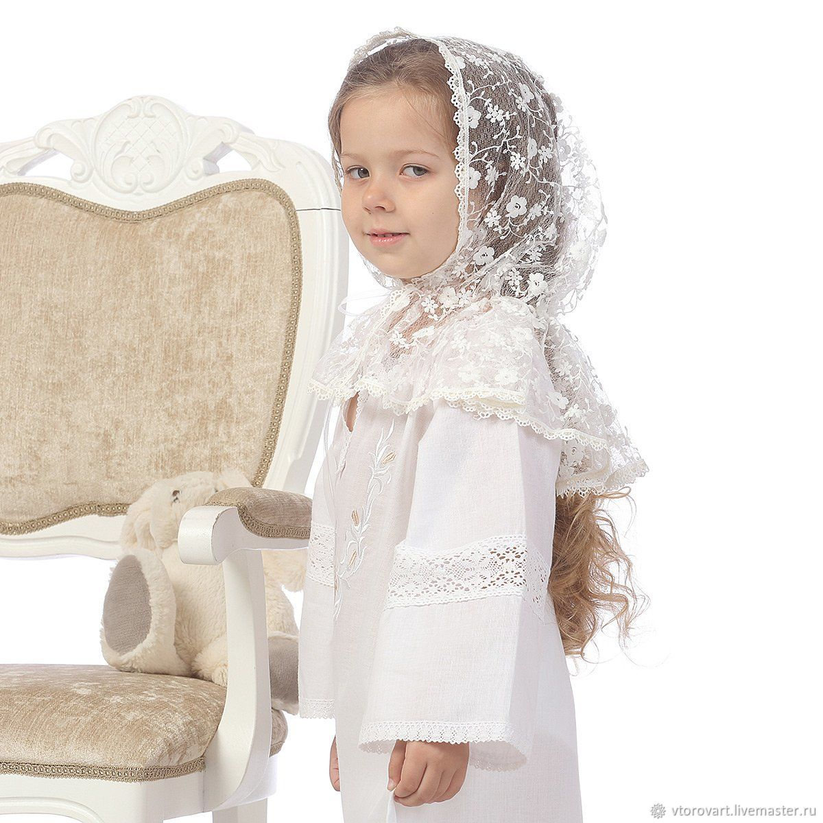 """Детский платок-капор """"Адель"""", Аксессуары, Москва, Фото №1"""