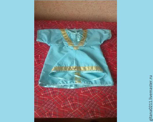 """Крестильные принадлежности ручной работы. Ярмарка Мастеров - ручная работа. Купить Крестильный наряд """"Восточный"""". Handmade. Мятный, крестильная рубашка"""