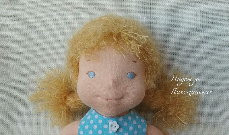 Игровая, текстильная куколка  -  Машенька 32 см, Вальдорфские куклы и звери, Долгопрудный,  Фото №1