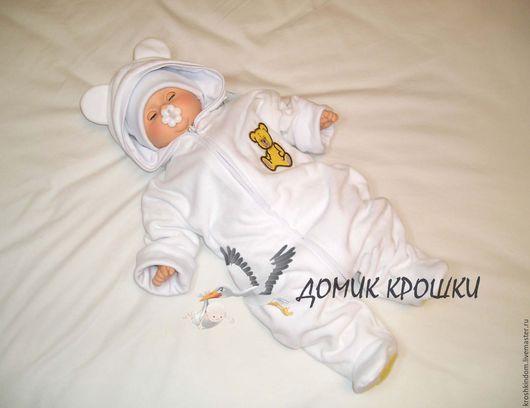 """Одежда ручной работы. Ярмарка Мастеров - ручная работа. Купить Комбинезон для новорожденного """"Желтый мишка"""". Handmade. Комбинезон, комбинезон для мальчика"""