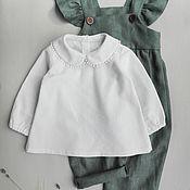 Работы для детей, handmade. Livemaster - original item Linen blouse. Handmade.