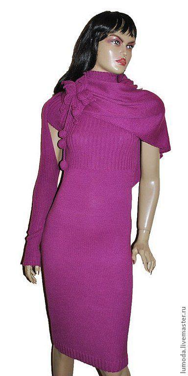Платья ручной работы. Ярмарка Мастеров - ручная работа. Купить Платье вязаное. Handmade. Розовый, шерсть