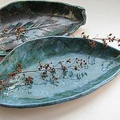 """Тарелки ручной работы. Ярмарка Мастеров - ручная работа Тарелка """"Лист-лодочка"""" хранительница чего угодно, керамика. Handmade."""