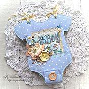 Подарки к праздникам ручной работы. Ярмарка Мастеров - ручная работа Фотоальбом для новорожденного. Handmade.