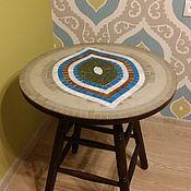 """Для дома и интерьера ручной работы. Ярмарка Мастеров - ручная работа Стол придиванный """"Оракул 1"""", мозаика. Handmade."""