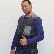 Одежда handmade. Livemaster - original item Waistcoat for men - felt. Handmade.