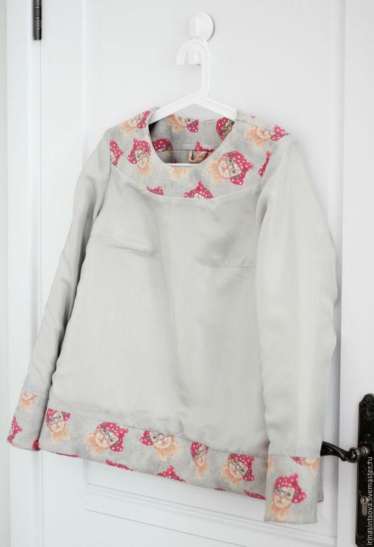 Пиджаки, жакеты ручной работы. Ярмарка Мастеров - ручная работа. Купить Свитшот КОШКИ из шерстяной ткани на шелковом подкладе. Handmade.