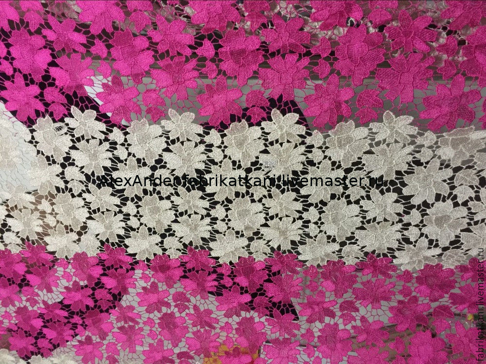 Two-color lace. 'Color bands', Fabric, Guangzhou,  Фото №1