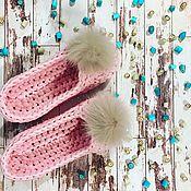 """Обувь ручной работы. Ярмарка Мастеров - ручная работа Тапочки из трикотажной пряжи """"Нежность"""". Handmade."""