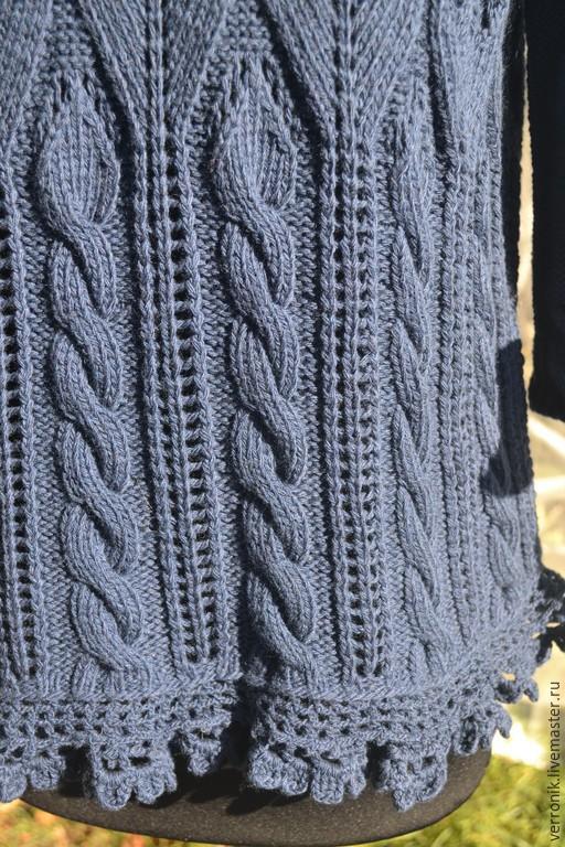 Кофты и свитера ручной работы.  Ярмарка мастеров- ручная работа.  Пуловер вязаный `Синие тюльпаны`. Пуловер вязаный `Синие тюльпаны` купить.Синий. Handmade. Магазин мастера Доминика.