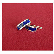 Украшения handmade. Livemaster - original item Earrings with lapis lazuli.. Handmade.