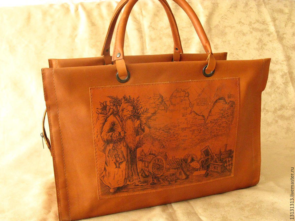 Женские сумки ручной работы. Ярмарка Мастеров - ручная работа. Купить Кожаный саквояж от Vad Us. Handmade. кожаный саквояж