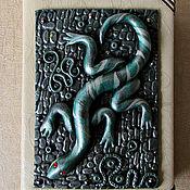 Канцелярские товары handmade. Livemaster - original item Notepad Mistress of Copper mountain.Notepad from scratch. decor polymer clay. Handmade.