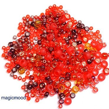 Materials for creativity handmade. Livemaster - original item 10g Toho MIX 3208 red Japanese seed beads, TOHO Momiji. Handmade.