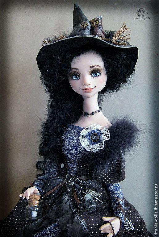 Коллекционные куклы ручной работы. Ярмарка Мастеров - ручная работа. Купить Молодая ведьма. Handmade. Тёмно-синий, коллекционная кукла