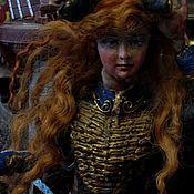 Куклы и игрушки ручной работы. Ярмарка Мастеров - ручная работа русалка рыжая в ментике. Handmade.