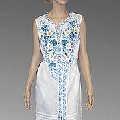 Одежда ручной работы. Ярмарка Мастеров - ручная работа Вышитое белое платье. Вышиванка. Макси платье.. Handmade.