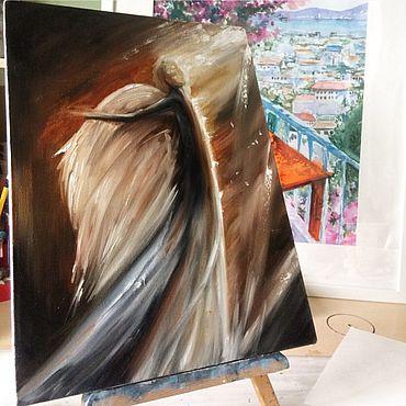 Картины и панно ручной работы. Ярмарка Мастеров - ручная работа Картина маслом Ангел мой. Handmade.