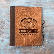 Канцелярские товары handmade. Livemaster - original item Notebook with wooden cover. Binding-veneer. Handmade.