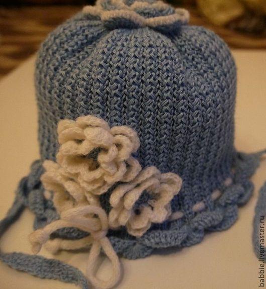 """Для новорожденных, ручной работы. Ярмарка Мастеров - ручная работа. Купить Шляпка и гольфы """"Цветочная поляна-1"""". Handmade. Шляпка"""