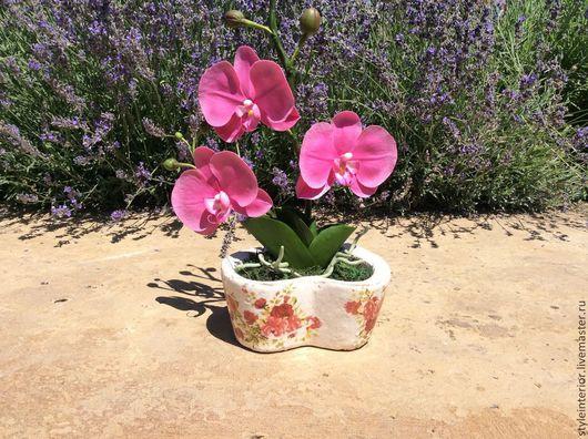 Интерьерные композиции ручной работы. Ярмарка Мастеров - ручная работа. Купить Прекрасные орхидеи. Handmade. Холодный фарфор