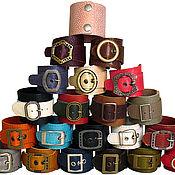Украшения ручной работы. Ярмарка Мастеров - ручная работа кожаные браслеты на кнопках и пряжках. Handmade.