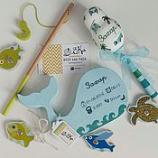 Подарки к праздникам ручной работы. Ярмарка Мастеров - ручная работа Погремушка и интерьерная игрушка с метрикой. Handmade.