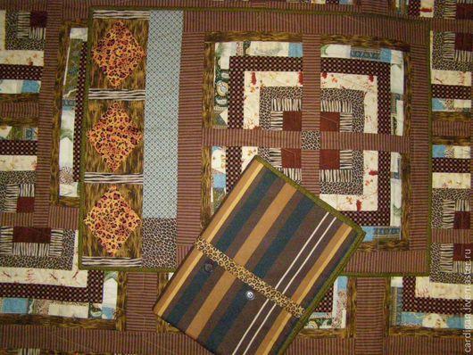 """Текстиль, ковры ручной работы. Ярмарка Мастеров - ручная работа. Купить """"Старая Африка"""" (лоскутный комплект). Handmade. Коричневый, рыжий"""
