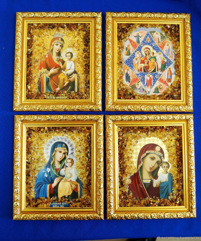Иконы в натуральном янтаре освящённые, Иконы, Белокуриха,  Фото №1