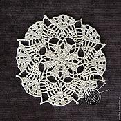 Для дома и интерьера ручной работы. Ярмарка Мастеров - ручная работа Салфетка ажурная декоративная диаметр 15 см. Handmade.
