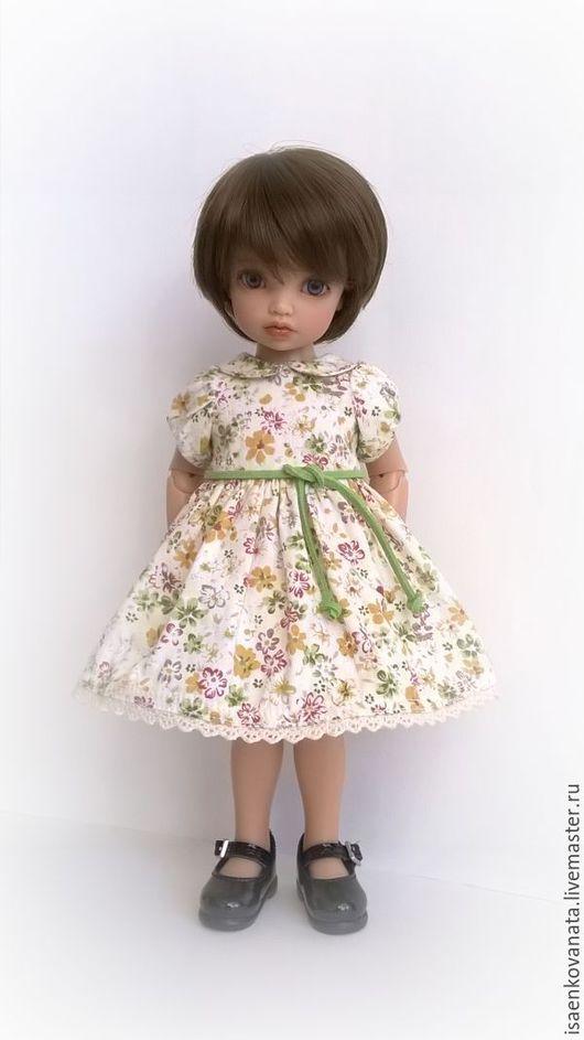 Одежда для кукол ручной работы. Ярмарка Мастеров - ручная работа. Купить Платье для куклы БЖД. Handmade. Салатовый, одежда для куклы