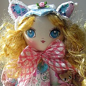 Куклы и игрушки ручной работы. Ярмарка Мастеров - ручная работа Лера, голубые розы. Handmade.