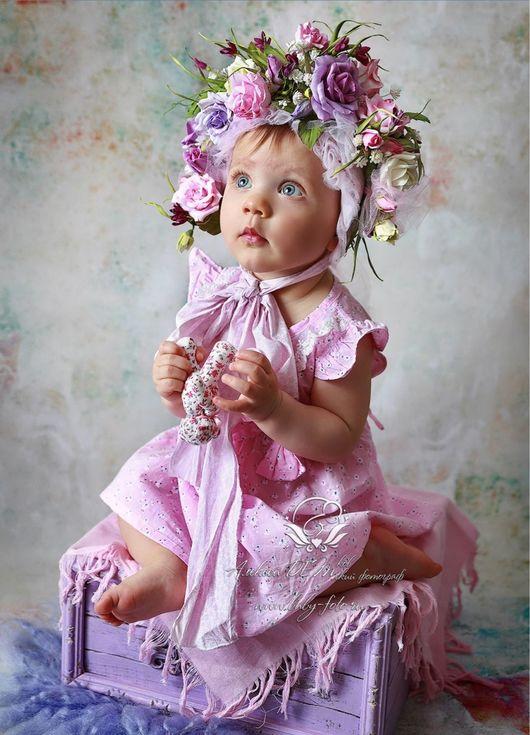 Диадемы, обручи ручной работы. Ярмарка Мастеров - ручная работа. Купить Цветочная шапочка для фотосессии. Handmade. Розовый, веночек на голову