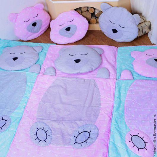 Детская ручной работы. Ярмарка Мастеров - ручная работа. Купить Детский спальный мешок. Handmade. Мятный, спальный мешок