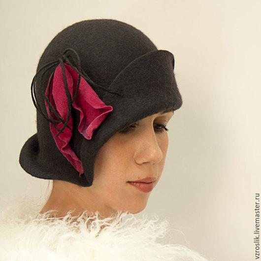 """Шляпы ручной работы. Ярмарка Мастеров - ручная работа. Купить Шляпка """"Тень ушедшей любви"""". Handmade. Темно-серый"""