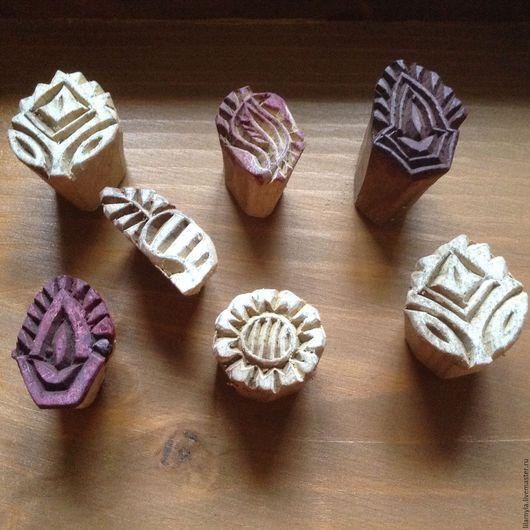 Декупаж и роспись ручной работы. Ярмарка Мастеров - ручная работа. Купить Штамп каламхари деревянный для мыла, ткани, мехенди и пр творчества. Handmade.