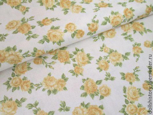 Светло-желтый, желто-зеленый, ткань розы, ткань с розами, цветочный рисунок, ярмарка мастеров.