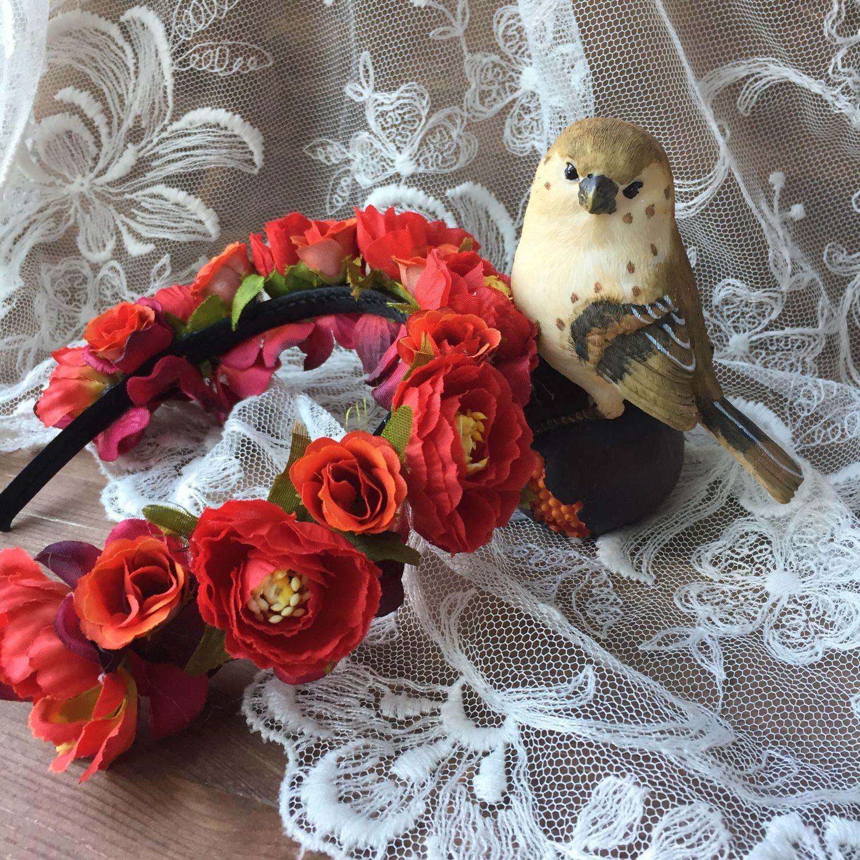 Цветочек для ободка