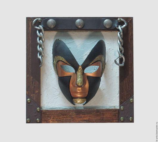 """Интерьерные  маски ручной работы. Ярмарка Мастеров - ручная работа. Купить """"МАСКА"""" Панно (PAINTING). Handmade. Комбинированный, цепь, интерьер"""